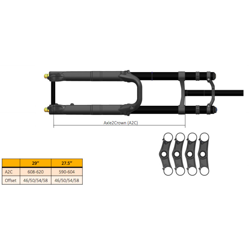 OHLINS ΠΛΑΚΕΣ MTB DOWN HILL OFFSET 58 19233-20