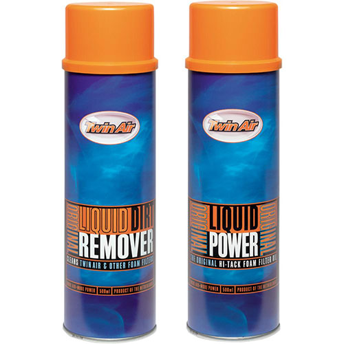 TWIN AIR LIQUID POWER SPRAY + LIQUID DIRT REMOVER SPRAY PAK (2X500ML) 159007